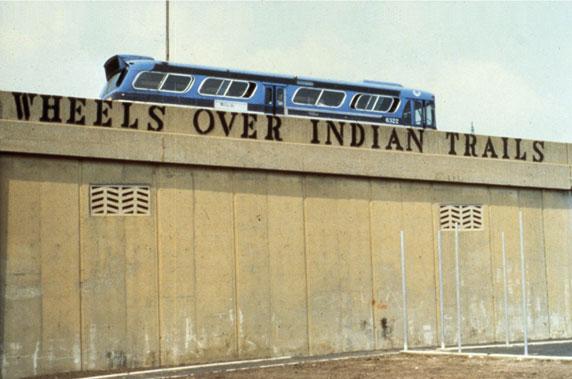 John Fekner Wheels over indian trails