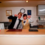 Day-1: Reception staff in downtown Akakura-Onsen