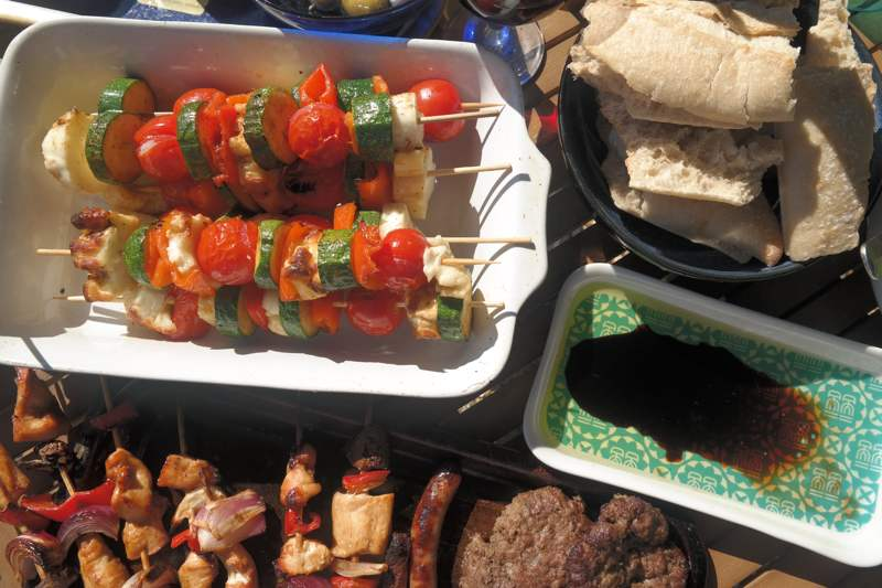 Barbecue Halloumi & Vegetable Kebabs1