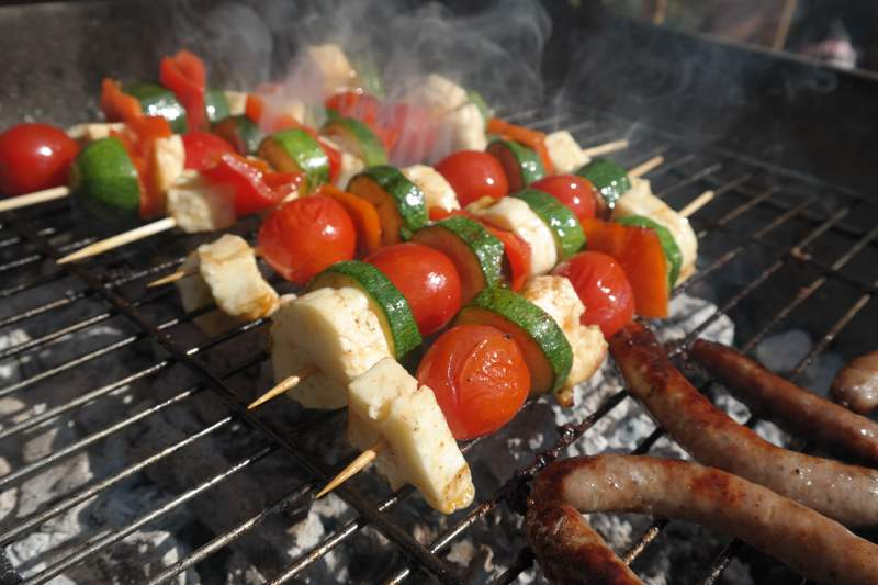 Barbecue Halloumi & Vegetable Kebabs3