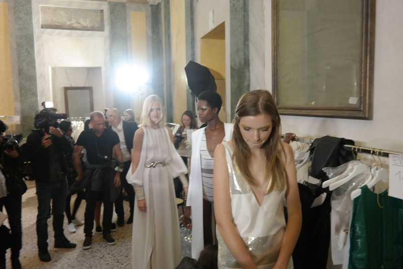 Backstage Milan Fashion week ss6 Genny