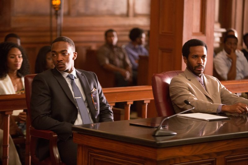 Anthony Mackie and AndrÇ Holland in Black or White