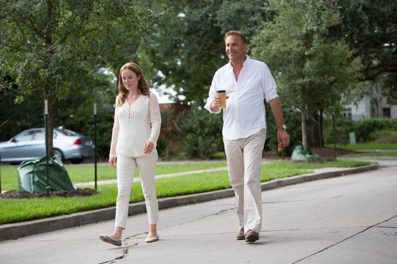 Jennifer Ehle and Kevin Costner in Black or White