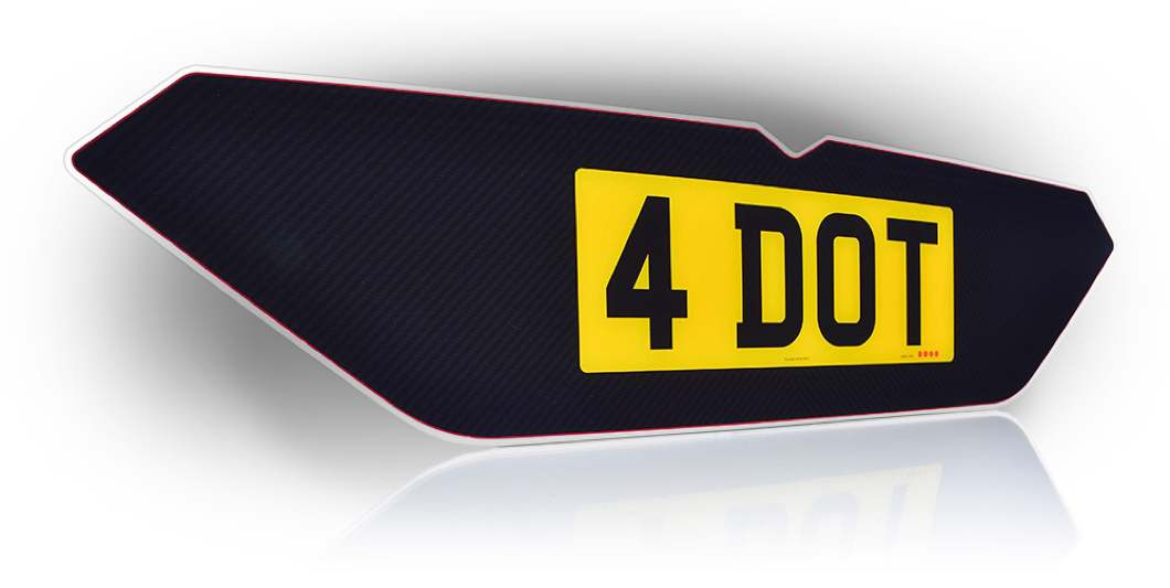 4 dot customisable number plates