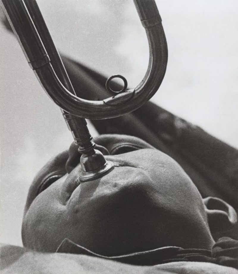 Pioneer with a trumpet, 1930 Moscow House of Photography