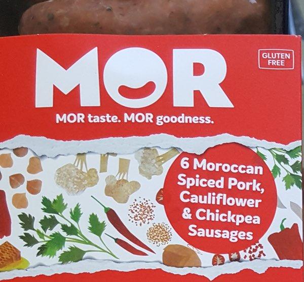 Moroccan Spiced Pork, Cauliflower & ChickpeaSausages