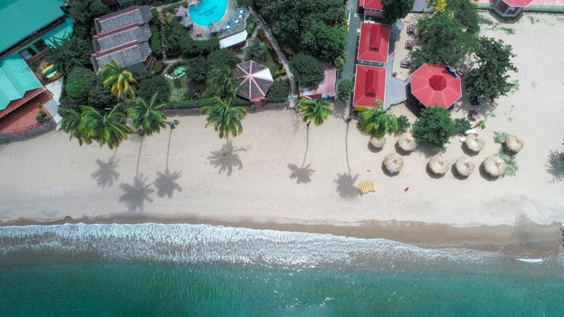 Soufriere Beach Park at Hummingbird Beach, St Lucia