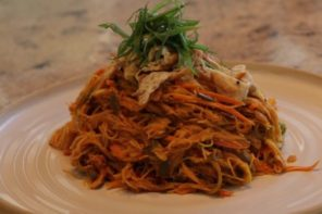 Food: A Healthy Singapore Noodle Steam Fry by BodyHoliday's Executive Chef Alan Wichert
